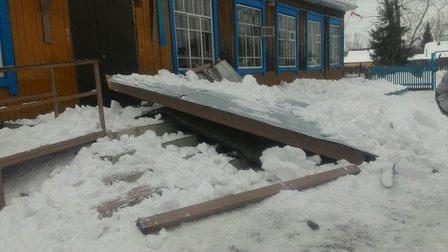 Вшколе впроцессе прогулки школьников обрушилась крыша