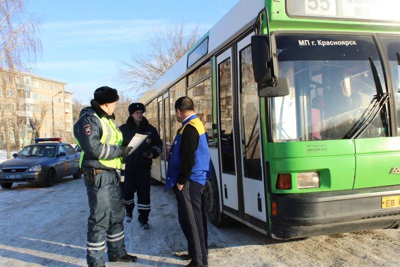 Красноярские водители маршруток задень допустили 74 нарушения