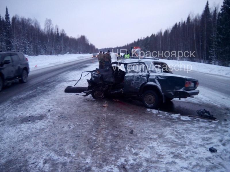 ВДТП натрассе «Ачинск-Красноярск» погибли два человека