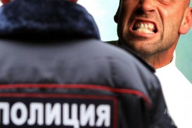 Нетрезвый дебошир вКрасноярском крае укусил сотрудника милиции заногу