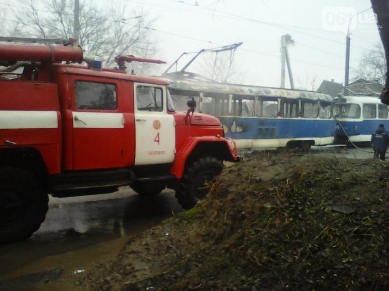 ВКрасноярске находу зажегся трамвай