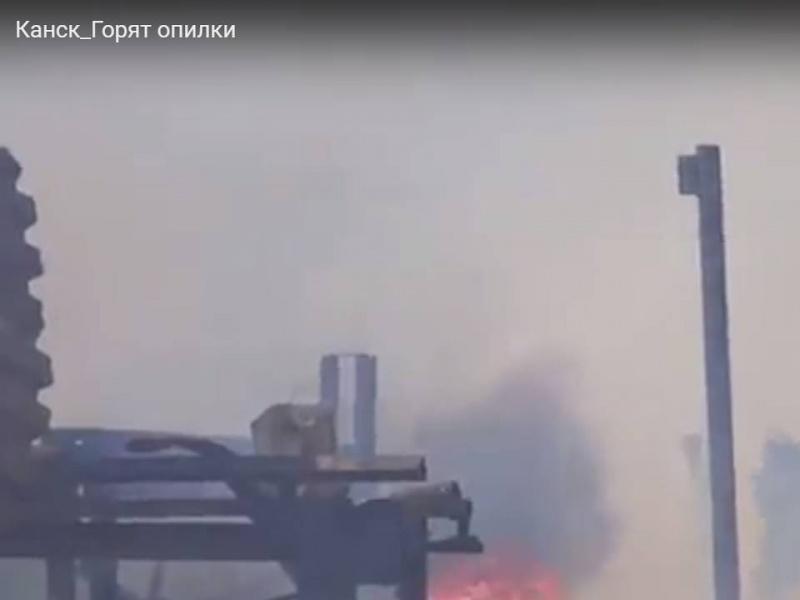 Канск Красноярского края вновь накрыло дымом отгорящих деревянных отходов