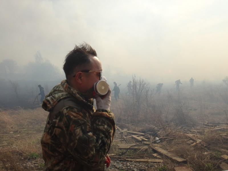 Мощный пожар на«китайской» пилораме вКанске