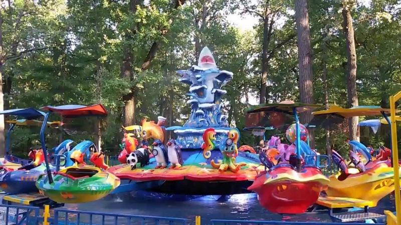 В основном  парке Красноярска небольшой  ребенок упал под аттракцион