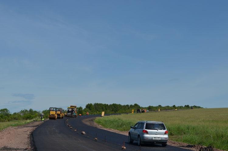 ВКрасноярском крае начался ремонт дороги кхакасским озерам
