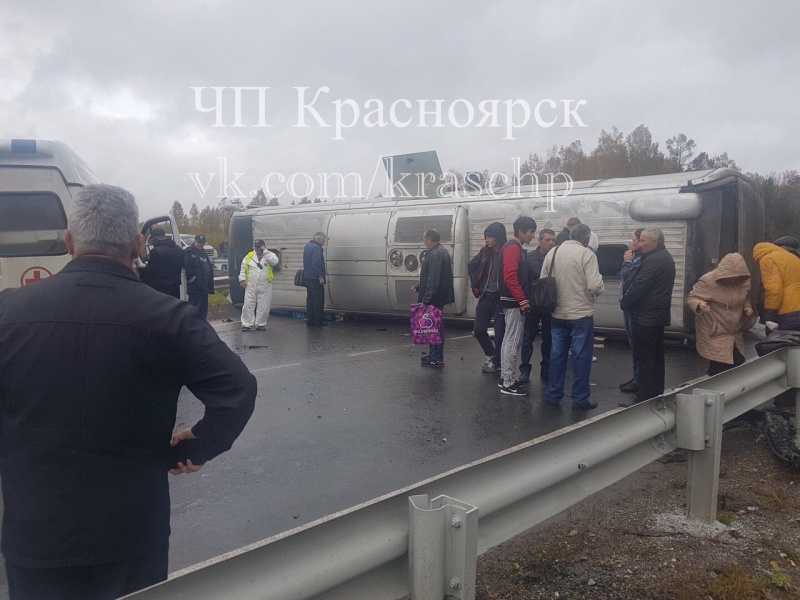 ВДТП врейсовым автобусом вУярском районе пострадали шесть человек