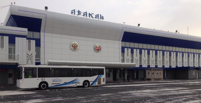 Международный аэропорт Абакана закрылся из-за снегопада