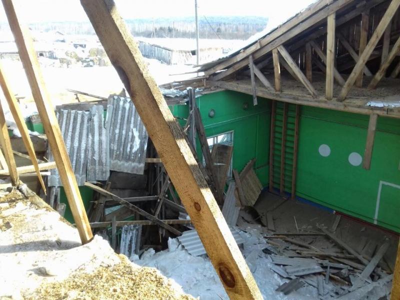ВКрасноярском крае вшколе обрушилась крыша